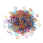 Colorful Aluminum Wire Open Jump Rings Unsoldered 20-gauges Loose Loops Link 6mm