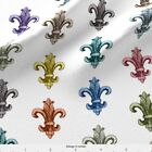 Shapes Ornaments Crest Fleur-de-lis Fabric Printed By Spoonflower Bty