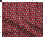 Snow Owl Cartoon Red Scarf Hats Holidays Fabric Printed By Spoonflower Bty