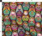 Matryoshka Doll Russian Nesting Black Maiden Fabric Printed By Spoonflower Bty
