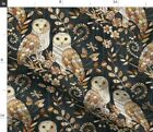 Barn Owl Wooden Texture Owls Wood Nature Night Fabric Printed By Spoonflower Bty