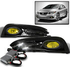 For 2013-2015 Honda Civic 4dr Front Bumper Yellow Fog Lights 50w 6k Xenon Hid