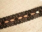 Black Beading Lace Trim With Ribbon 3 Yards Insertion Lace Apparel Lingerie