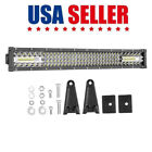 20 30 40 52 54inch Curved Led Light Bar Spot Flood Work Driving Offroad 4wd