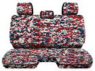 Designcovers Digital Camo Red Fits 05-15toyota Tacoma Front Bench W3headrests