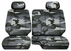 Camo Gray Car Seat Covers Fits 95-00toyota Tacoma Front Bench 60-40 Seats2hr