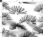 Hedgehog Squiggles Blak And White Line Work Fabric Printed By Spoonflower Bty