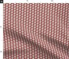 Bison Maroon And White Fabric Printed By Spoonflower Bty