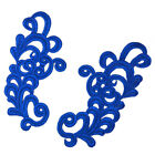 1 Pair Embroidery Lace Applique For Dress Clothes Diy Sewing Patch 8.5x17cm