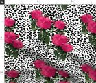 Leopard Rose Punk Hot Pink Rock Rockstar Sexy Fabric Printed By Spoonflower Bty