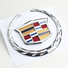 Silver Front Grille Rear Trunk Emblem Badge For Cadillac Escalade Cts Srx