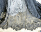 French Chantilly Lace Fabric Floral Embroidery Lace Wedding Fabric By The Yard