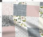 Patterned Quilt Squares Pretty Blush Baby Fabric Printed By Spoonflower Bty