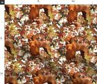 Autumn Leaves Hunting Dogs Fall Leaf Spoonflower Fabric By The Yard