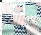 Wholecloth Quilt Baby Girl Cheater Squares Fabric Printed By Spoonflower Bty