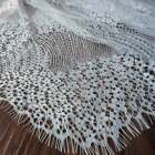 Scalloped Lace Fabric Floral Overlay Chantilly Lace Bridal Lace Fabric By Yard
