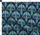 Damask Victorian Blue Sage Vintage Acanthus Fabric Printed By Spoonflower Bty