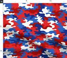 Red White And Blue Camo Independence Day Fabric Printed By Spoonflower Bty