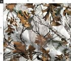 Masculine Leaves Camo Outdoors Natural White Fabric Printed By Spoonflower Bty