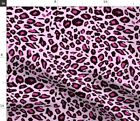 Pink Leopard Print Animal Cheetah Spots Baby Fabric Printed By Spoonflower Bty