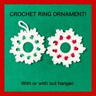 Crochet Snowflake Ornament Handcrafted Crafts Holiday Christmas Red White