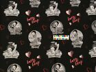 Betty Boop Cotton Fabric - 14 Yard To 1 Yard - Oop Extremely Rare