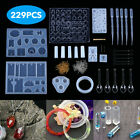 83229pc Resin Casting Molds Kit Silicone Making Jewelry Diy Pendant Craft Mould