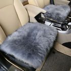 Genuine Real Fur Wool Car Seat Cover Cushion Sheepskin Warm Chair Cover Long