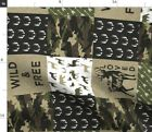 Green Woodland Camouflage Baby Boy Hunting Spoonflower Fabric By The Yard