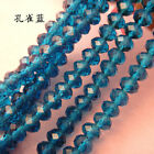 Hot 50pcs 4x6mm Rondelle Faceted Austria Crystal Finding Spacer Beads