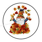 30 Gnome With Leaves Envelope Seals Labels Party Favors Stickers 1.5 Round