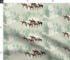 Run Fox Horse Pony Equestrian Hunting Horses Spoonflower Fabric By The Yard
