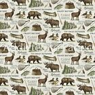 Flannel - Lakeside Lodge Fabric By The Yard Half Yard Northcott Animals Light