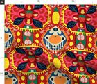 Kilim Ikat Style Boho Bohemian Bright Color Spoonflower Fabric By The Yard