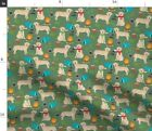 Dogs Camping Labrador Labrador Retriever Yellow Spoonflower Fabric By The Yard