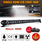 20inch Slim Led Light Bar Spot Flood Combo Work Offroad Suv Boat Driving Atv 4wd