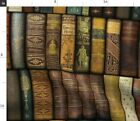 Library Books Book Shelves Fancy Victorian Spoonflower Fabric By The Yard