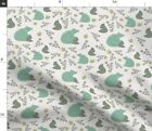 Bear Cub Forest Animals Baby Bear Grizzly Timber Spoonflower Fabric By The Yard