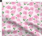 Rose Pink Floral Bud Magenta Spoonflower Fabric By The Yard