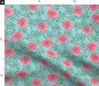 Rose Pink Floral Pattern Nature Spoonflower Fabric By The Yard