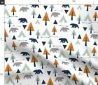 Forest Trees Bears Bear Camping Teepee Spoonflower Fabric By The Yard