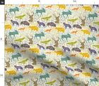 Bear Moose Spoonflower Fabric By The Yard