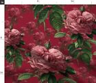 Pink Flower Flowers Floral Victorian Rose Spoonflower Fabric By The Yard