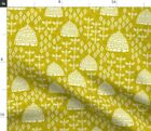 Bees Bee Hive Honeycomb Block Honey Bee Spoonflower Fabric By The Yard