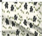 Bear Forest Tree Woodland Bears Camping Camping Spoonflower Fabric By The Yard