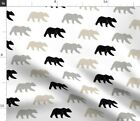 Woodland Bear Trendy Neutral Outdoors Woodsy Spoonflower Fabric By The Yard