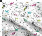 Bears Cars Kids Toile Dinosaurs Trains Spoonflower Fabric By The Yard