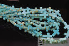 Blue White Howlite Turquoise Gemstone Cross Spacer Loose Beads 12mm X 16mm 16