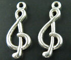 50 Tibetan Silver Music Notes Theme Charms Jewellery Making
