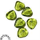 Glass Beads Czech 50pcs Flower Or Leaf Choose Flatdrop Leaf Mini Bell